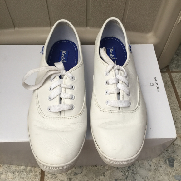 df1f8d6f261 Keds White Original Champion Leather Sneakers